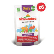 Daily Bio aliment pour chat 6 x 70 g Almo Nature